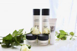 oplossing huidproblemen normale huid dermatologische huidverzorging, diverse soorten huidverzorgingsproducten fysiologisch concept