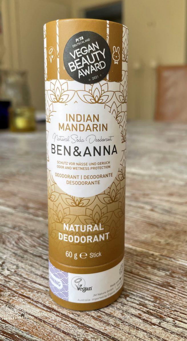 Indian Mandarin Ben & Anna natuurlijke deodorant